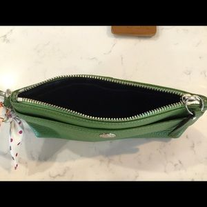 Coach Bags - Soft leather Coach wristlet with bow